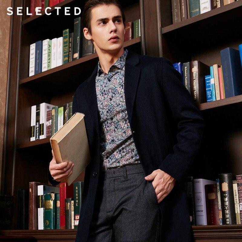 SELECTED New 100% Wool Winter Coat Men's Medium-length Jacket S | 418427502