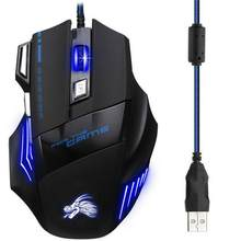 Dropship 5500 Dpi Led Optical Gaming Usb Wired Gaming Mouse 7 Bottoni Computer Gamer Mouse Per Il Computer Portatile Del Computer Mouse(China)