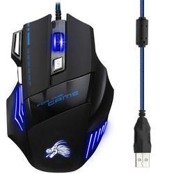 Dropship 5500 Dpi optyczna do gier przewodowa mysz dla graczy z Usb 7 przycisków gracz komputerowy myszy na Laptop myszy