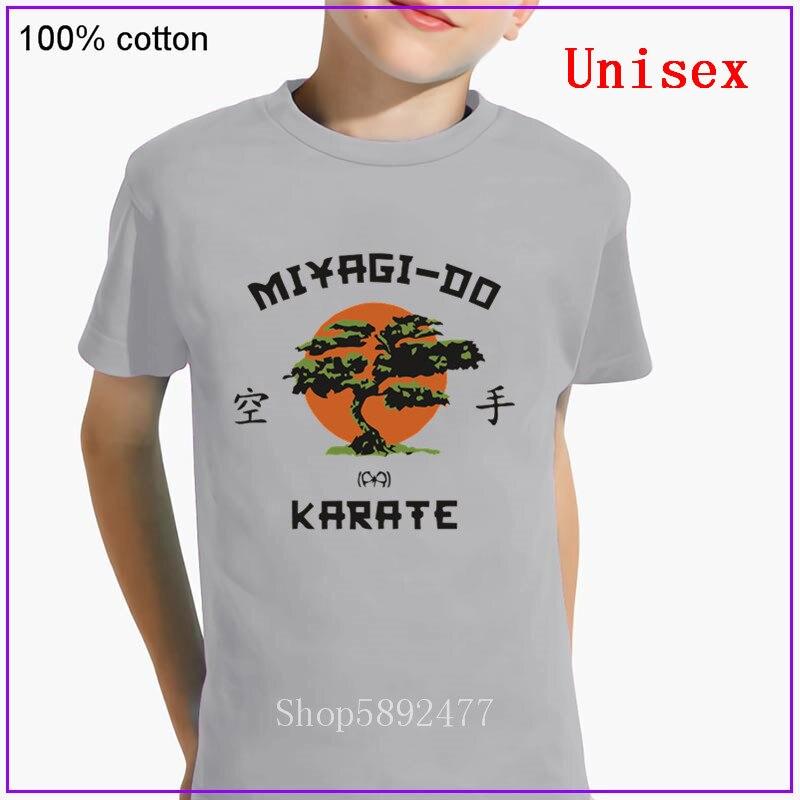 Японская черная футболка в стиле «кунг-фу», «Мияги до», детская одежда, футболки с изображением дерева банзай, Детские футболки для каратэ, ф...