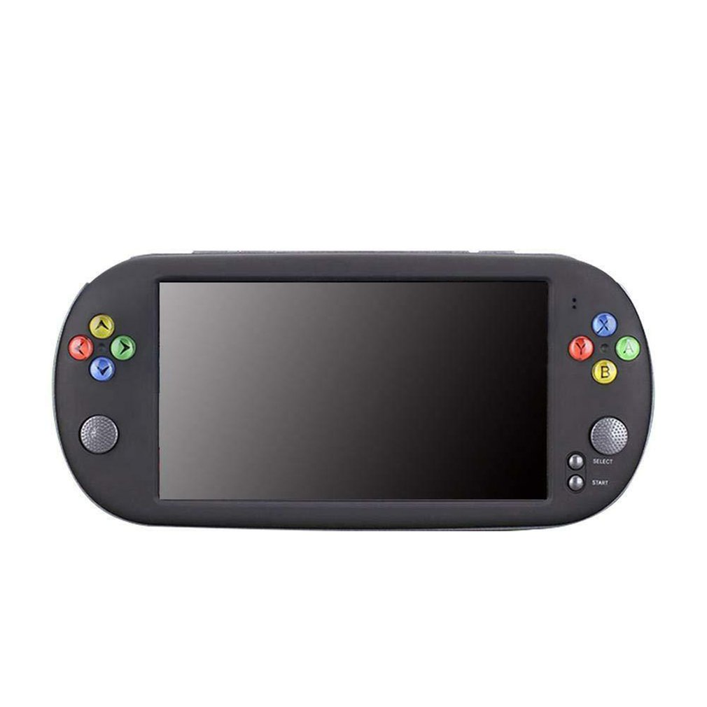 X16 7 Inch Retro Classic Game Console Handheld Portable 1300 Built-in Games Color Screen Display Game Player