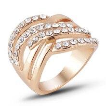 Beiver модные Кристальные кольца высокого качества золотого цвета ювелирные изделия оптом женские обручальные кольца обручальные аксессуары