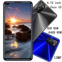 4g ram + 64g rom 7t 8mp + 13mp quad core android face id smartphones globais desbloqueado 6.72