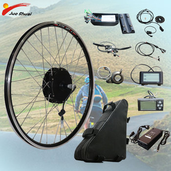 Kit de conversión de Bicicleta eléctrica 48V 350w, batería de litio LCD,...