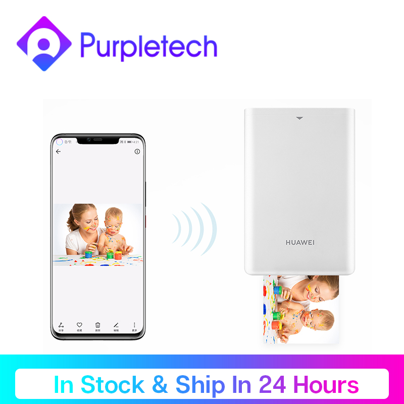 Huawei Pocket Photo Printer Mini Portable AR Photos Mini Pocket Printer Paper Bluetooth 300dpi DIY Photo Printer for Smartphones