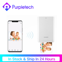 Huawei pocket photo printer mini portátil ar fotos mini bolso impressora de papel bluetooth 300dpi diy impressora de fotos para smartphones|Impressoras| |  -