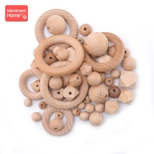 Mamihome 8-25mm Baby Wooden Teether Beech Hexagon Beads BPA Free Wooden Blank Tiny Rod Diy Pendant Crafts Children'S Goods Toys цена 2017