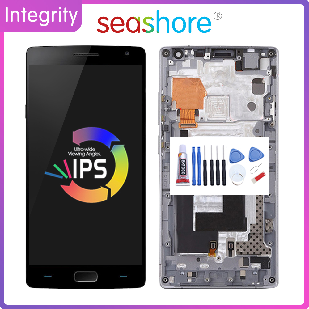 """5.5""""Original For OnePlus 2 LCD Display Touch Screen Digitizer For OnePLus 2 Display with Frame Replacement 1+2 A2001 A2003 A2005"""