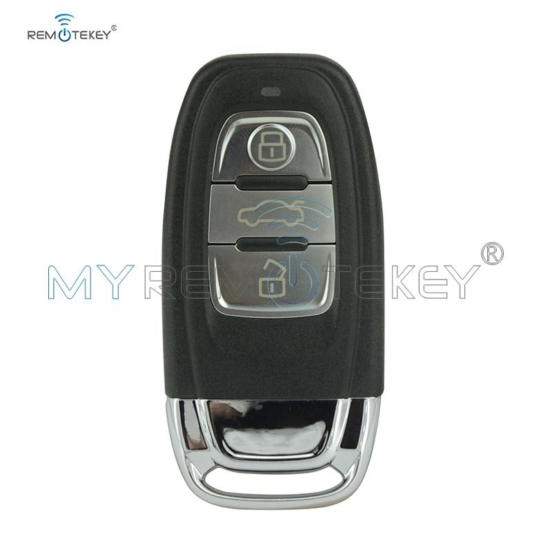 Butang kereta jarak jauh pintar 868Mhz 8T0959754C 3 untuk Audi A4 A5 S5 A6 Q5 termasuk remtekey sisipan kunci