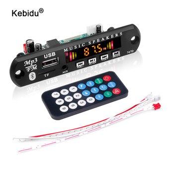 Kebidu kablosuz Bluetooth 5.0 5V 12V araba MP3 WMA dekoder kurulu ses modülü USB AUX TF FM radyo modülü 2*3W amplifikatör