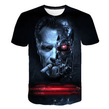 2019 new terminator t800 scuro fate 3d prin t shirt comics joker carattere con t-shirt di estate di stile harajuku tees top pieno(China)