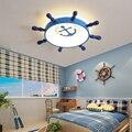 Европейский 55 см Пиратская лодка руль потолочный светильник Led детская комната декоративный светильник ing светильники Прямая поставка