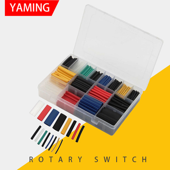 цена на 580pcs with box Assorted Polyolefin Heat Shrink Tubing Cable Sleeves Wrap Wire Set Multicolor Insulation Shrinkable Tube