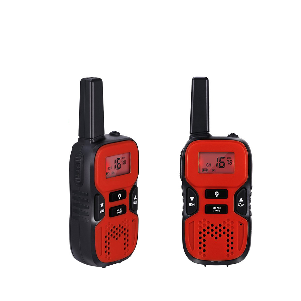 2pcs Kids Gift Electronic Handheld Rechargeable Funny Toy Walkie Talkies LCD Display Volume Adjustable Durable With Torch