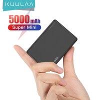 KUULAA Mini Power Bank 5000 mAh caricabatterie portatile PowerBank 5000 mAh USB PoverBank caricabatterie esterno per Xiaomi Mi 9 8