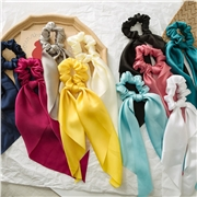 Sunshine Elastic Bow Scrunchies Women Headbands Hair Ties Stretch Ponytail Hair Rope Bands Hair Ring Girl Hair Accessories