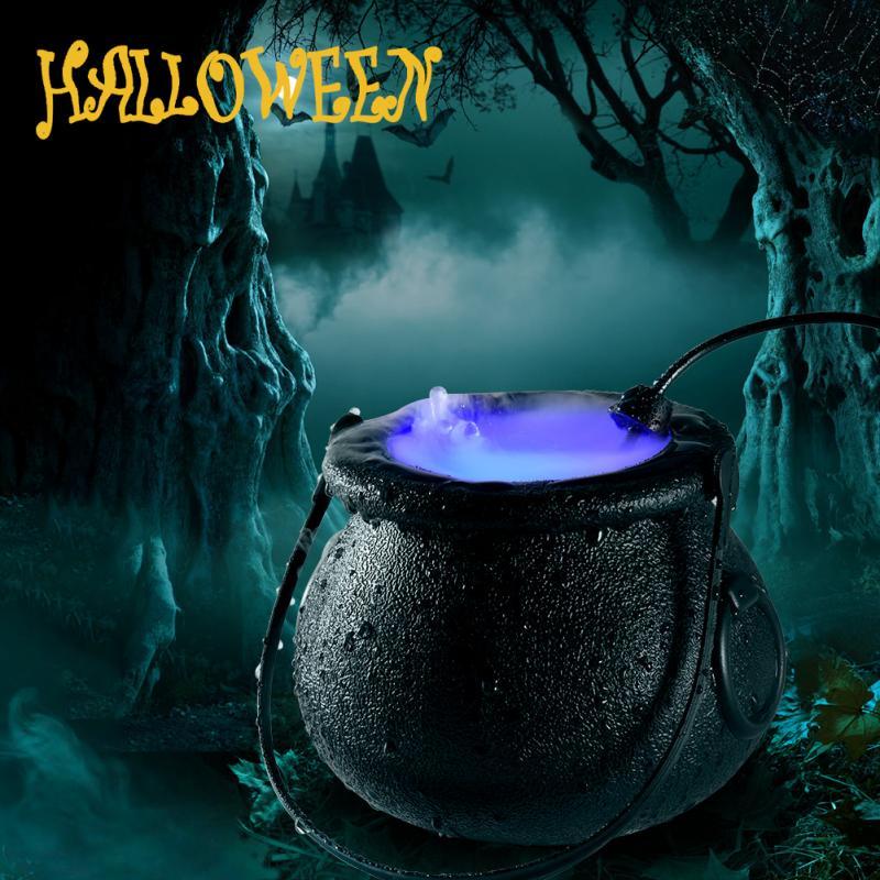 Máquina nebulizadora de Halloween máquina de niebla de humo adornos DIY para fiesta máquina de niebla luz que cambia de Color decoración de brujas de Halloween