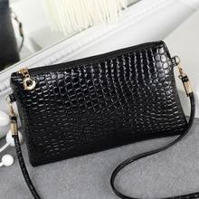 цена на New Handbags Fashion Shoulder Bag Lady Shoulder Bag Clutch Korean Version of the Leisure Crocodile Small Bag Women