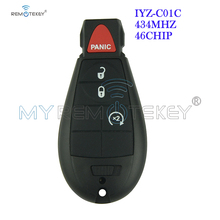 Remtekey #1 IYZ-C01C Remote Key Fobik 434mhz 3 Button with Panic New model for Dodge Chrysler Jeep 2012 2013 2014 free shipping 1pcs new offer kd900 remote nb10 3 1 button remote key with nb xtt new honda model for 2013 2015 honda