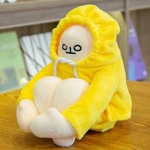 18-65cm woongjang bonecas amarelo banana homem brinquedos de pelúcia coreia popular apaziguar bonecas presentes de aniversário para crianças bebê