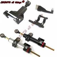 Motorcycle cnc Universal Stabilizer Damper Complete Steering Mounting Bracket For YAMAHA FZ07/MT07 2014 2016