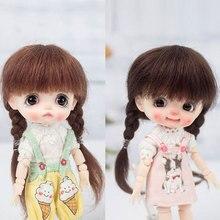 1/8 BJD мохеровый парик ob11 кукольные волосы милые вьющиеся волосы двойной конский хвост твист маленькая коса кукольные парики кукольные аксессуары