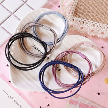 New Fashion Women Girls Head rope hair band rubber band female tie hair rope adult tie headdress simple personality ponytail(China)