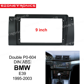1-2Din Car DVD Frame Audio Fitting Adaptor Dash Trim Kits Facia Panel 9inch For BMW E39 1995-2003 image