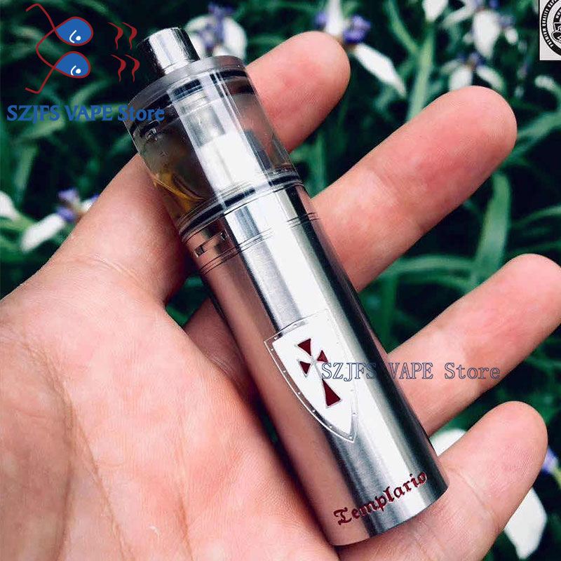 Templario Mod 22mm  Mini Mod Kit 18350 Battery Vape Brass Mechanical Mod Vs Atto Sxk Sob Mod Fit Kayfun Lite 22 Rta Atto Mods