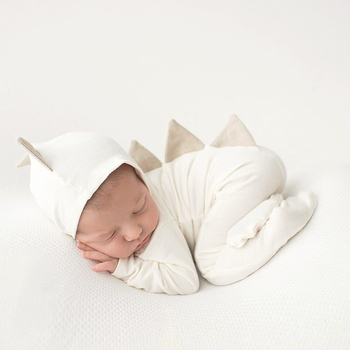 Newborn Photography Prop Dinosaur Infant Costume Outfit +Hat Photo Shooting Soft Cute Romper Baby Fotografia Accessories