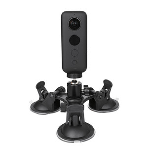 """Image 1 - Car Windshield Suction Cup with 1/4"""" Ball Head Holder Mount for Insta360 One X/Yi 4K/Sony FDR x3000 DSLR Camera Accessories Set"""