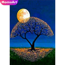 MomoArt DIY Diamond Painting Scenic Cross Stitch Full Square Embroidery Tree Home Decorations Gift Mosaic