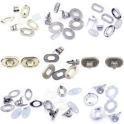 5 Sets Turn Twist Switch Clasp Locks Buckle Metal For DIY Handbag Purse Hardware Shoulder Tool Bag Craft Accessories