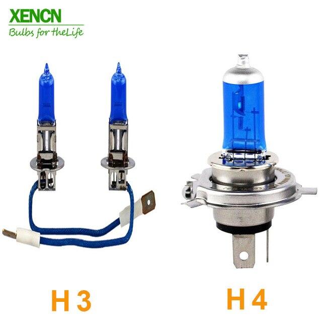 XENCN lampes halogène de phare de voiture   Lampes de phare de voiture bleu diamant, 12V H1 H3 H4 H7 H8 H9 H10 H11 H13 H15 H16 880 881 9005 9006 9012 K 2 pièces