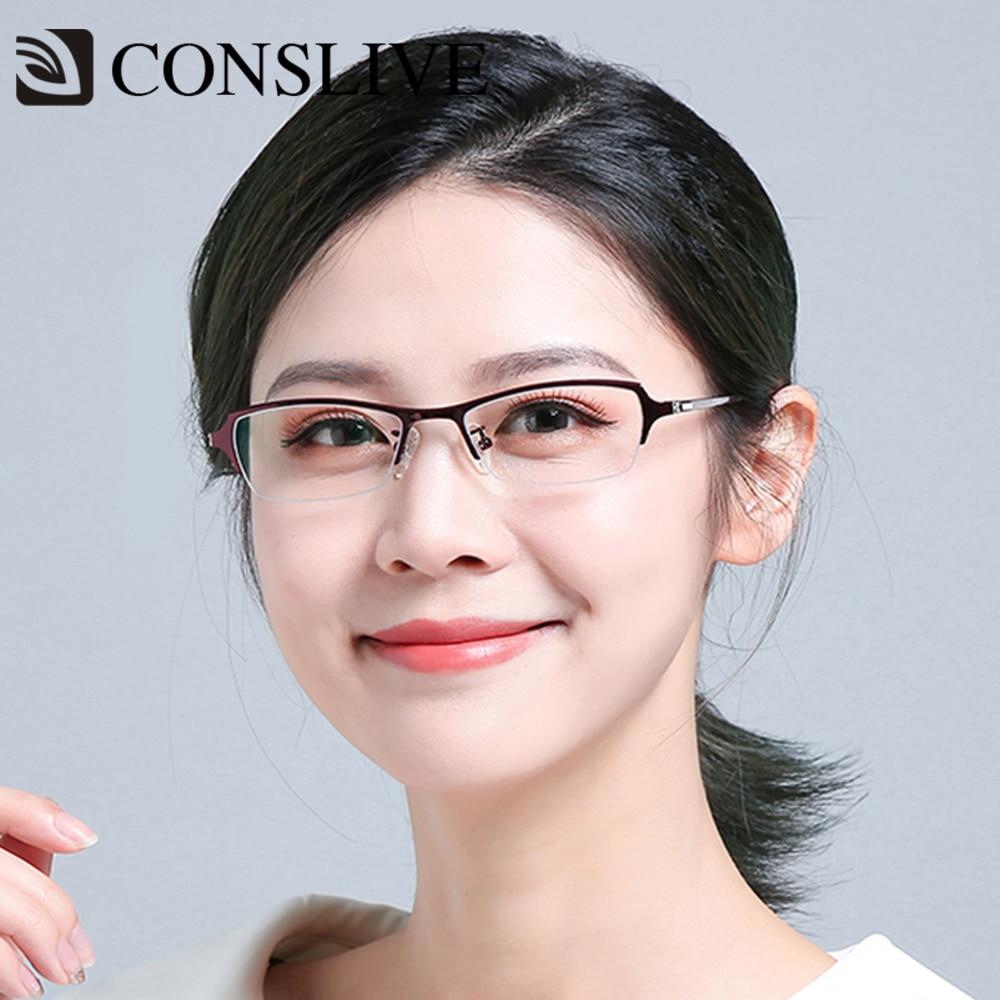 Severe Myopia Titanium Glasses Frames for Women, Titanium Eyeglasses Small High Myopia Female Optical Glasses Spectacles 8655
