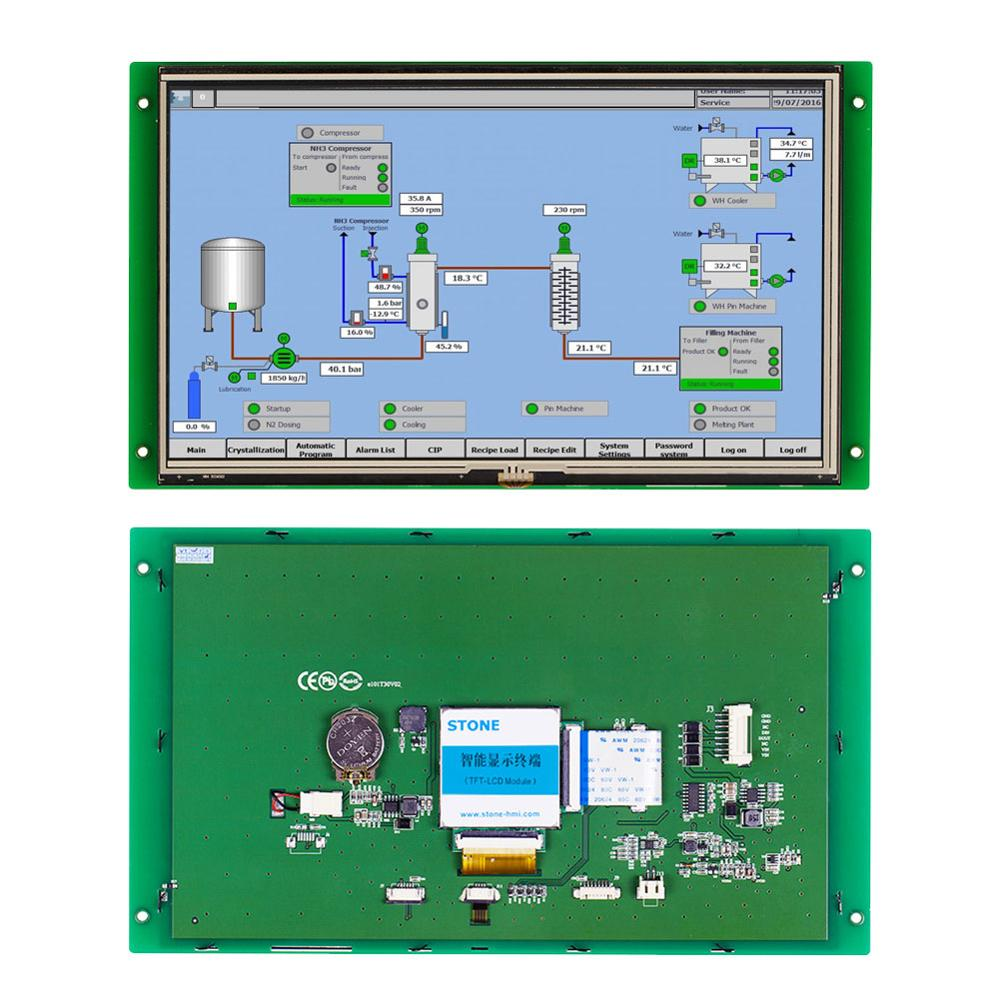STONE 10.1 Inch Intelligent TFT LCD Display Panel With RS232/RS485/TTL+Software For Equipment Use