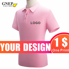 Fashion Ladies Polo Shirts Custom Short-Sleeved Lapel Home Wear Casual Solid Color Tops Printable Logo Gnep2020 New