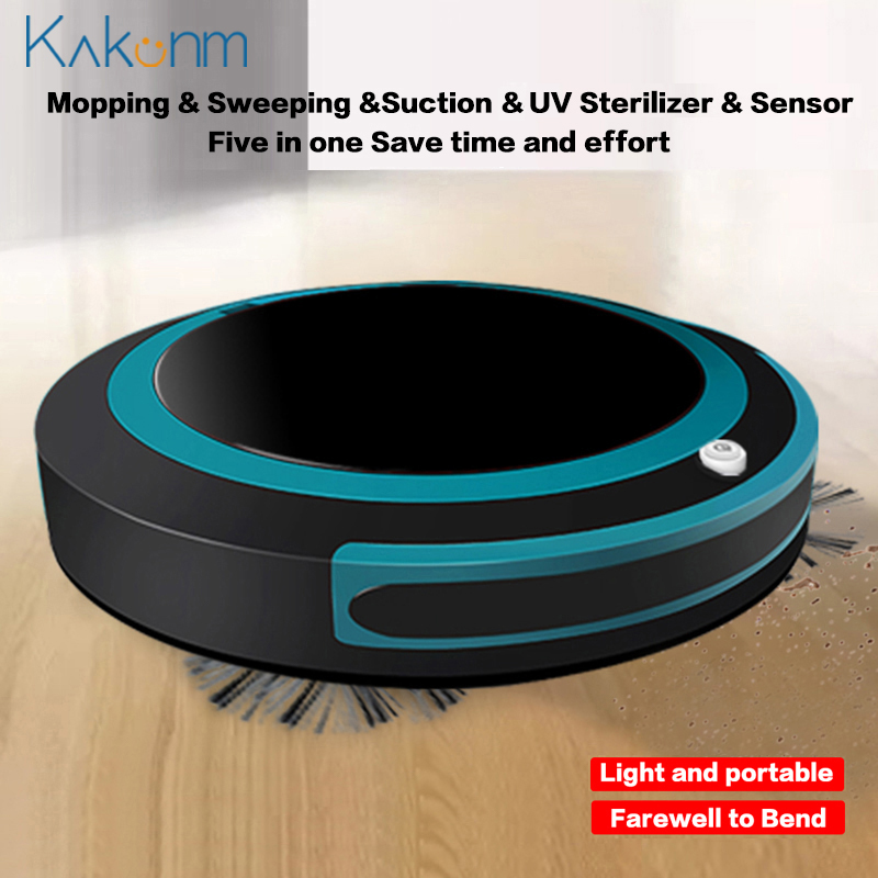 Automatic Smart Robot Vacuum Cleaner Mopping Sweeping Suction Cordless Auto Dust Sweeper Machine Anticollision for Home Cleaning image
