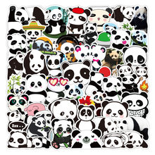 50 adet sevimli Panda karikatür çıkartmalar DIY kaykay buzdolabı telefonu gitar motosiklet dizüstü bagaj hayvan Sticker çıkartması çocuk oyuncak