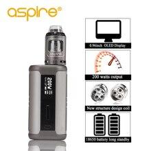 Электронная сигарета Aspire Speeder Kit, электронные сигареты 2 мл, атомайзер Athos Vape Tank 510 Thread 200W Mod, подходит для батареи 18650 Vapeador