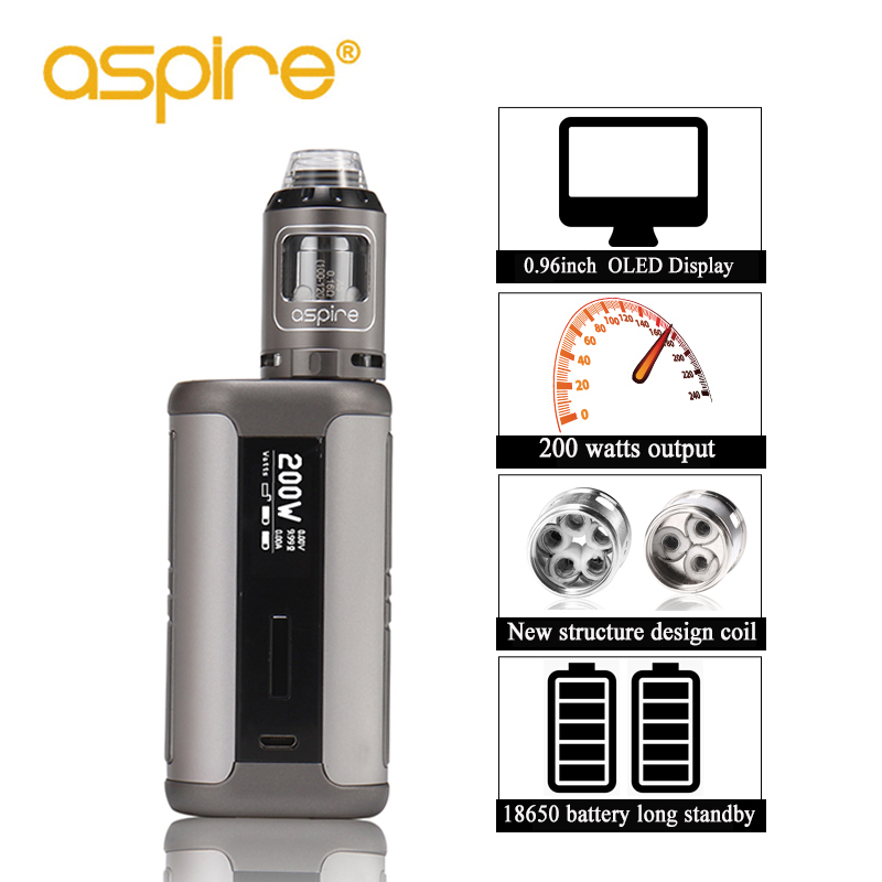 Electronic Cigarette Aspire Speeder Kit E-Cigarettes 2ml Athos Vape Tank Atomizer 510 Thread 200W Mod Fit 18650 Battery Vapeador