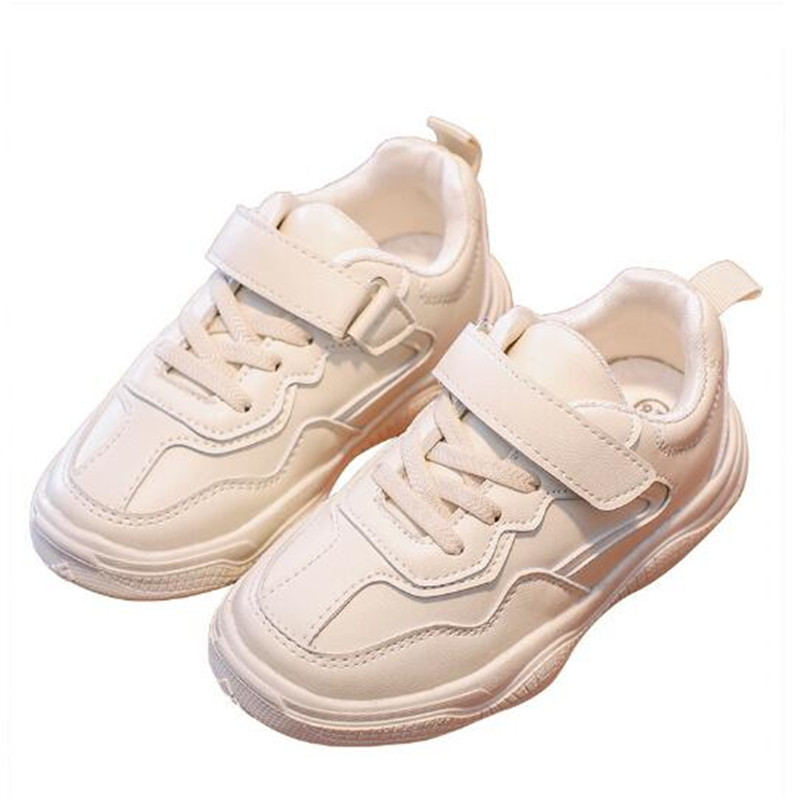 2020 New Kids White Shoes Girl Pu Leather Sneakers Student Boy Sneakers Kids Baby Toddler Shoes
