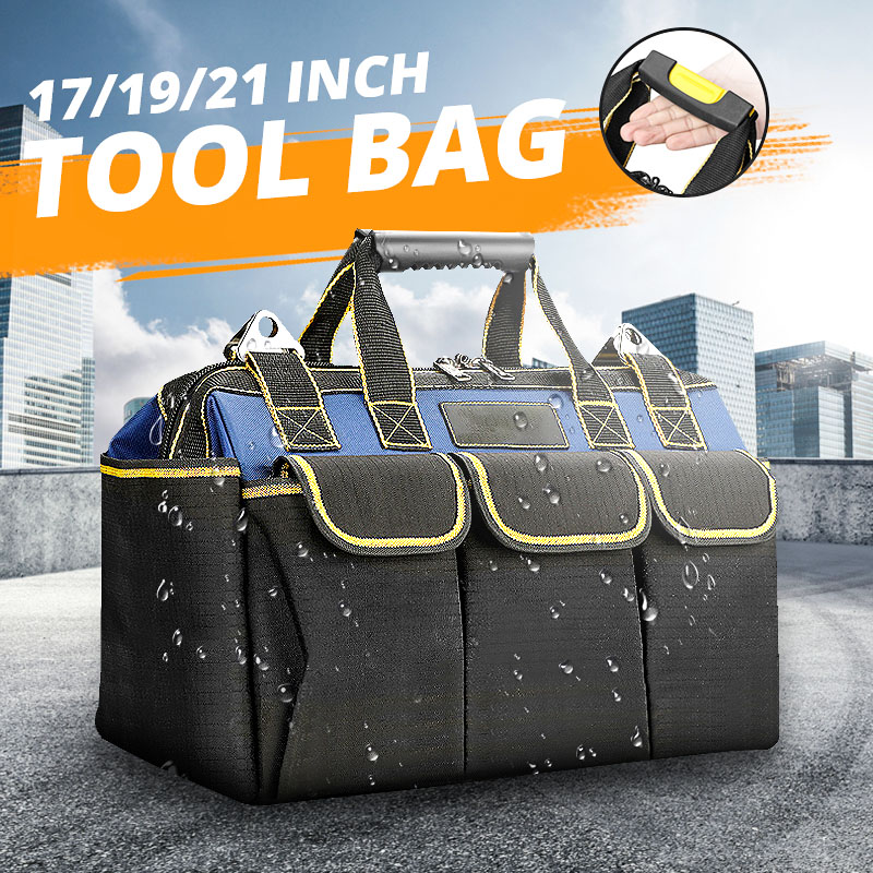 17/19/21 Inch Multi-function Tool Bag 1680D Oxford Cloth Electrician Bag Multi-pocket Waterproof Anti-fall Storage Bag Toolkit