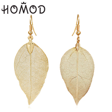 HOMOD Fashion Asymmetry Gold Color Rhinestone Long Earrings For Women Personality Black Acrylic Pendant Drop