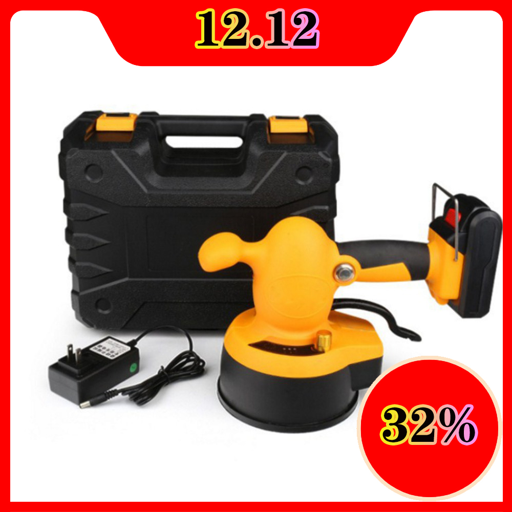 Portable Floor Vibrator Tile Tool 21V 150W 1.5A Tile Leveling System Portable Smart Electric Automatic Tiling Machine Charging