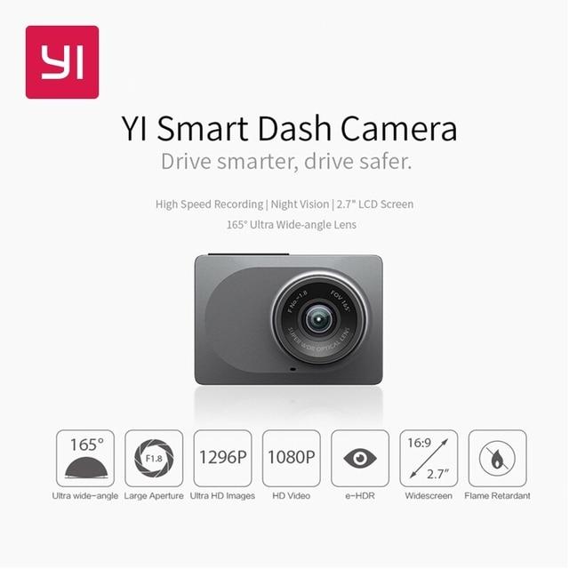 YI Smart Car Camera WiFi Dash DVR Recorder With Night Vision165 Degree Dash Cam 1080P Car Camera Registrator