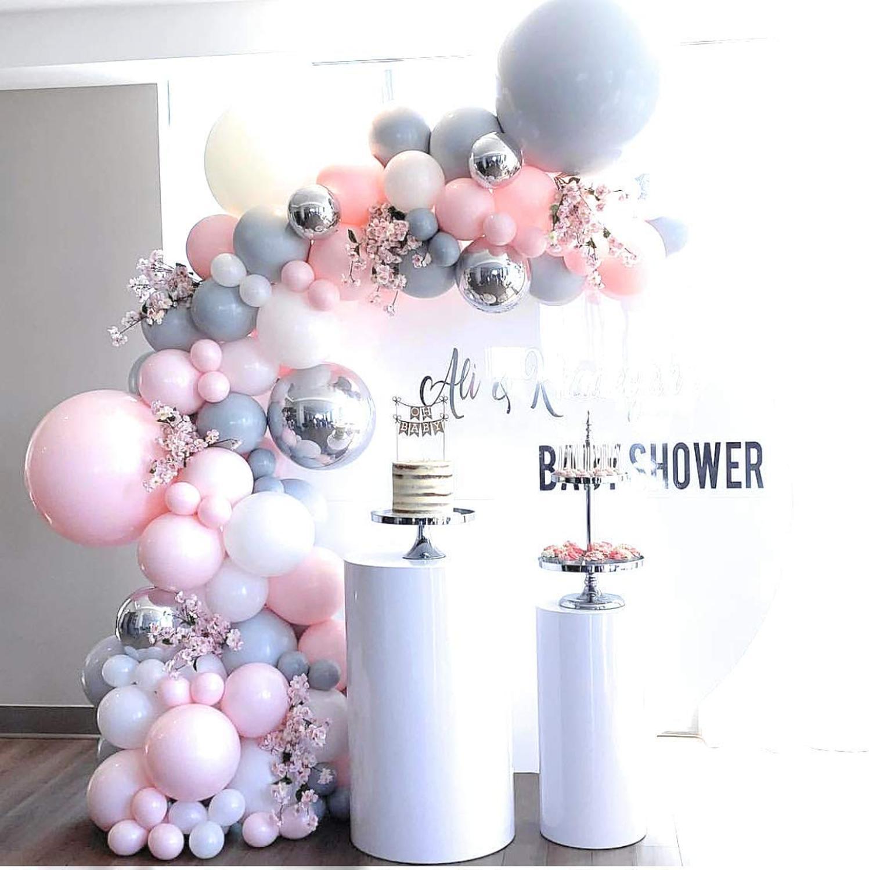 Rosa balão arco guirlanda kit para decoração de casamento chá de bebê nupcial navidad aniversário gênero revelar decorações da festa de aniversário