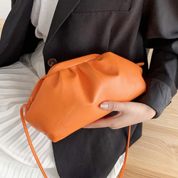 Women Handbag Leather Hobos Retro Cloud Hand Bags For Women Fashion Shoulder Bag Dumpling Crossbody Bag Female Bolsa