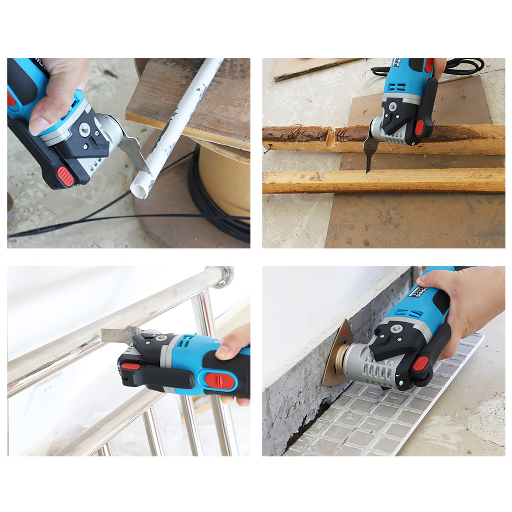 NEWONE Starlock Bi-Metall Oszillierende Sägeblatt Multitool Erneuerer Präzision Sägeblätter mit Finger Sand Papier für Holz/fliesen Cut