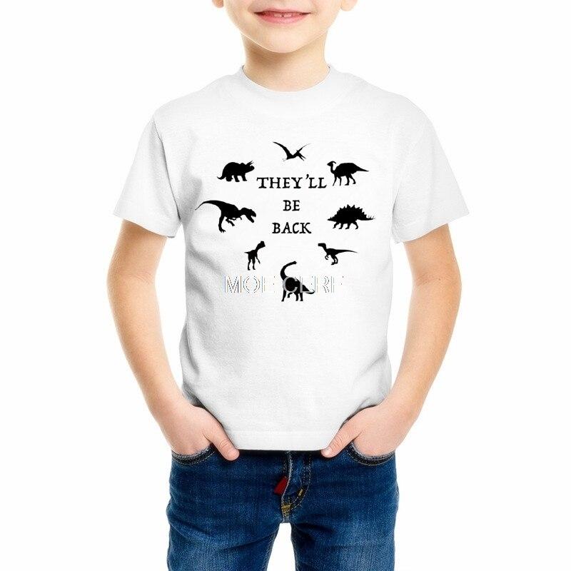 Camiseta de manga corta para niños, niñas, dinosaurio, ropa para niños, camiseta Casual para niños, camisetas, Z6-11 de buena calidad